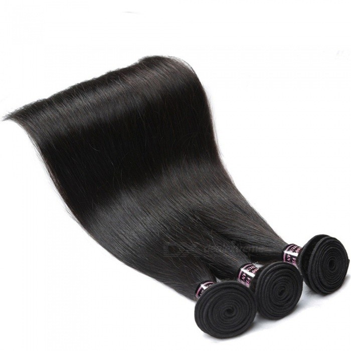 Malaysian Straight Hair 3 Bundles Deal 100% Non Remy Human Hair Weave Bundles Natural Black Silky Straight Bundles 24 26 28