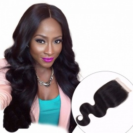 Body-Wave-Indian-Lace-Closure-Human-Hair-Free-Middle-Three-Part-4*4-Swiss-Lace-Closure-With-Baby-Hair-Non-Remy-Hair-14inches