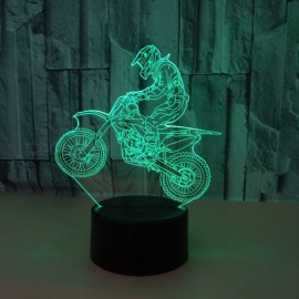 Riding-Motorcycle-Riders-3D-Night-Lights-Colorful-Visual-Light-LED-Gradient-Touching-Remote-Control-Visual-Light-3D-Lamp-ChangeableClear3w