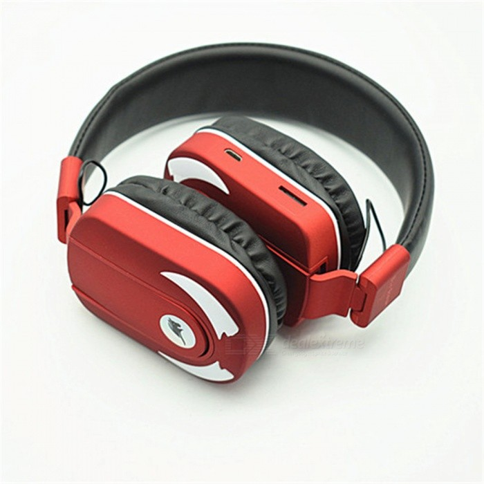 Quelima Bluetooth Stereo Headset, Retractable Gaming Wireless Headphone - Red