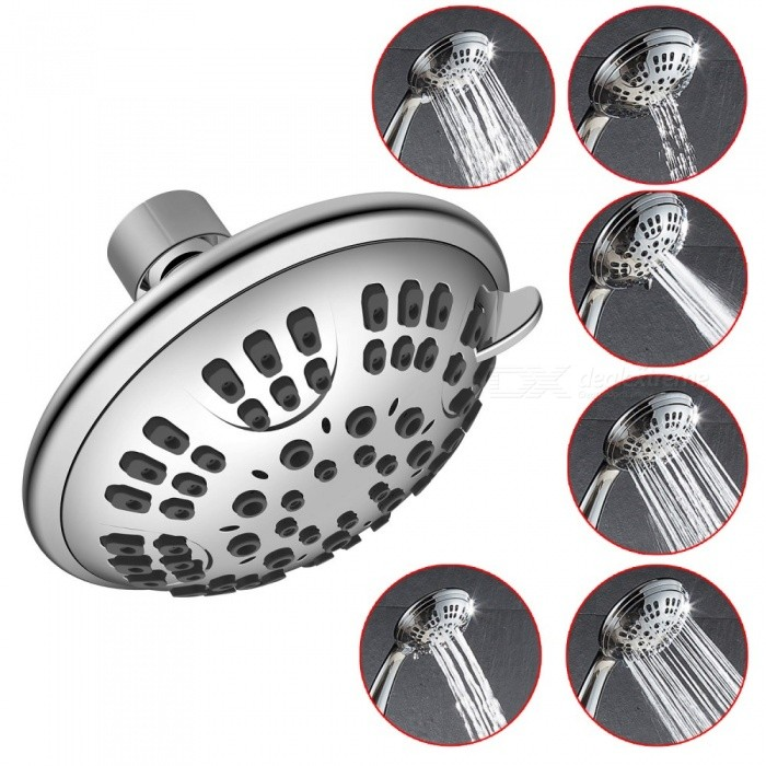 Bathroom Rainfall 6 Position Shower Head, Spray Jet Massage Shower Head