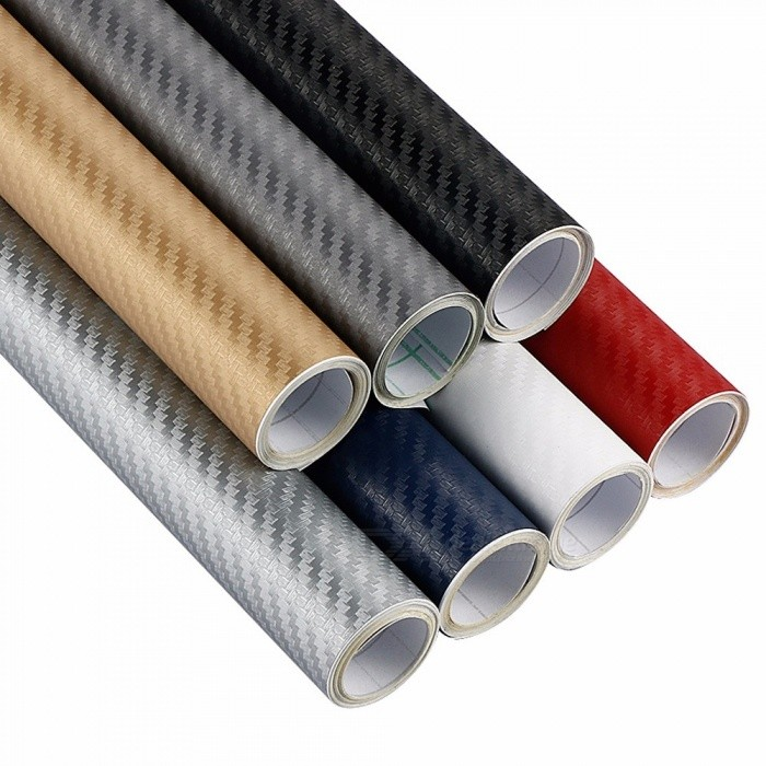 30cmx127cm 3D Carbon Fiber Vinyl Car Wrap Sheet Roll Film Car Stickers Decals Motorcycle Car Styling Accessories