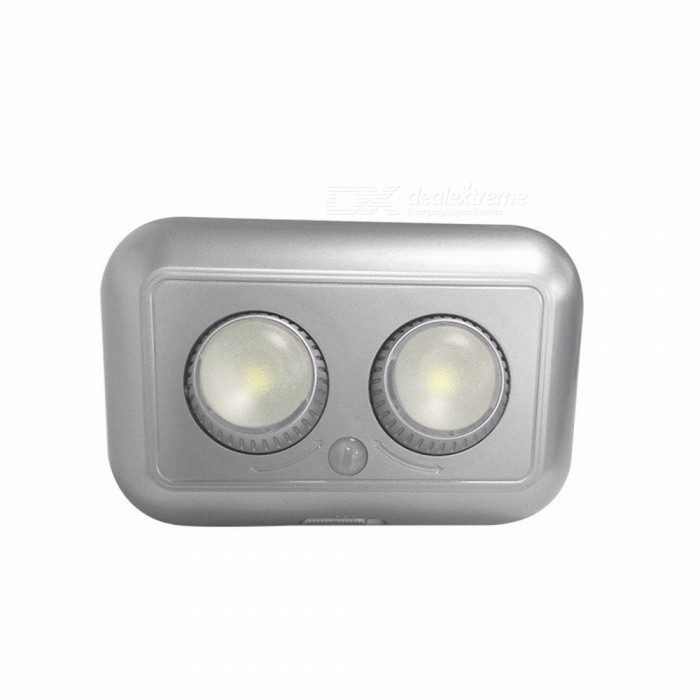 1W Infrared Human Body Motion Sensor LED Night Light Beam Angle Adjustable Creative Home Cabinet Corridor Lamp 3 X AAA Warm White/Light Grey