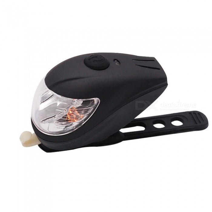 LED  Bicycle Headlight Loud Horn USB Charging Light Switch Bike Light Frontlamp Black