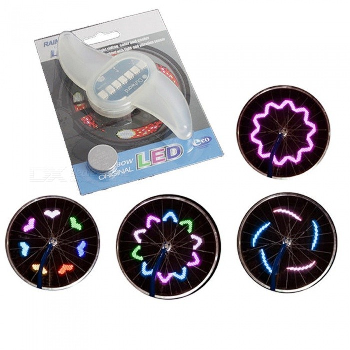 7LED Bicycle Wheel Light Bike/Cycling Signal Warning Spoke Lamps Motion Sensor Bike Wheel Lamp White