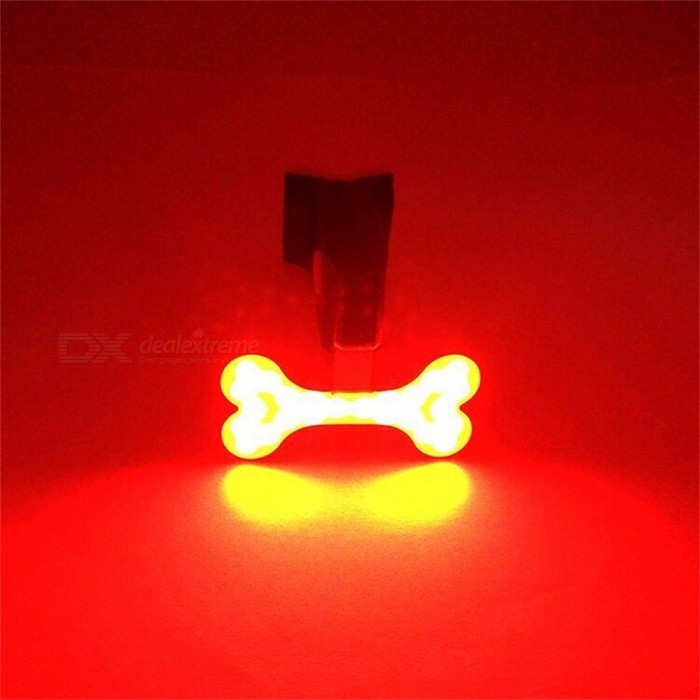Bicycle LED Tail Light Safety Warning Light Laser Night Mountain Bike Rear Usb Charging Light-Bone Type Black