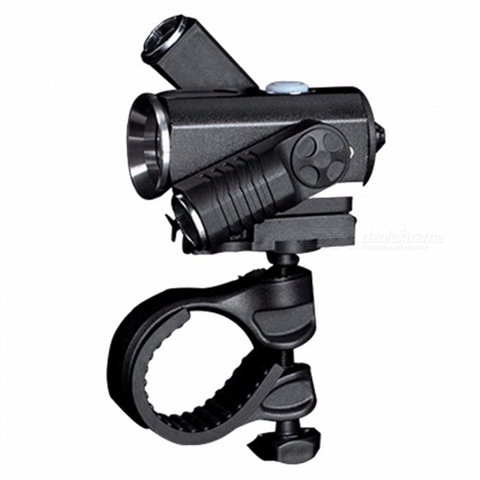 Bike LED Lamp Set 3 Lighting Modes Bicycle Front Flashlight Rear Bike Light Waterproof IPX6 Headlight Tail Light Black