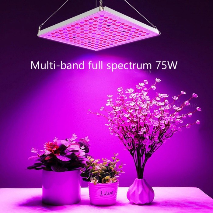 ZHAOYAO 75W LED Grow Light, Full Spectrum Hydroponic Indoor Plant Lamp