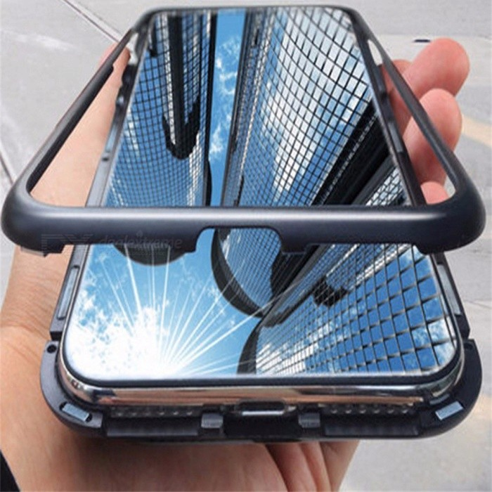 The Latest Models Mobile Phone Shell New Fashion Metal Glass Frame Shell Bracket Mobile Phone Set For IPHONE X