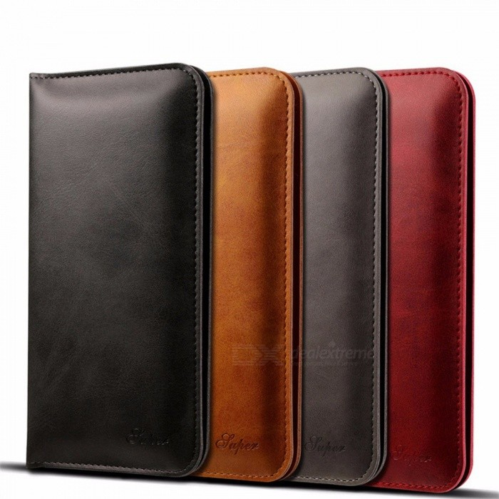 Mobile Phone Bag Genuine Leather Phone Pounch Brown Vintage Protection Shell For IPHONE X