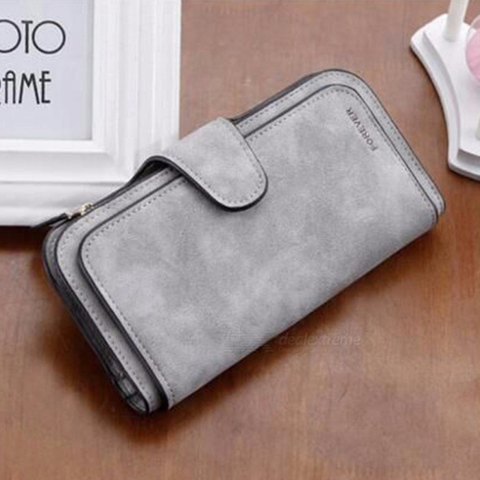 Fashion-Multi-Layer-Folding-PU-Leather-Wallet-For-Lady-Long-Section-Card-Holder-Pursue-Black