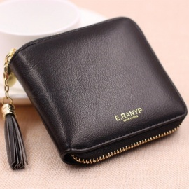 Simple-Square-Lady-Wallet-Short-Paragraph-Zipper-Small-Wallet-Tassel-Mini-Coin-Purse