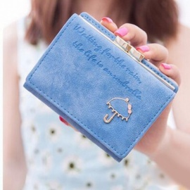 Cute-Clutch-Purse-With-Umbrella-Pattern-PU-Leather-Wallet-Short-Handbag-For-Girls
