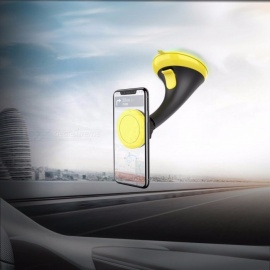 Car Phone Desktop Holder, Universal Sucker Suction Cup Mount Bracket, Mobile Phone Windshield Stand Black +Yellow