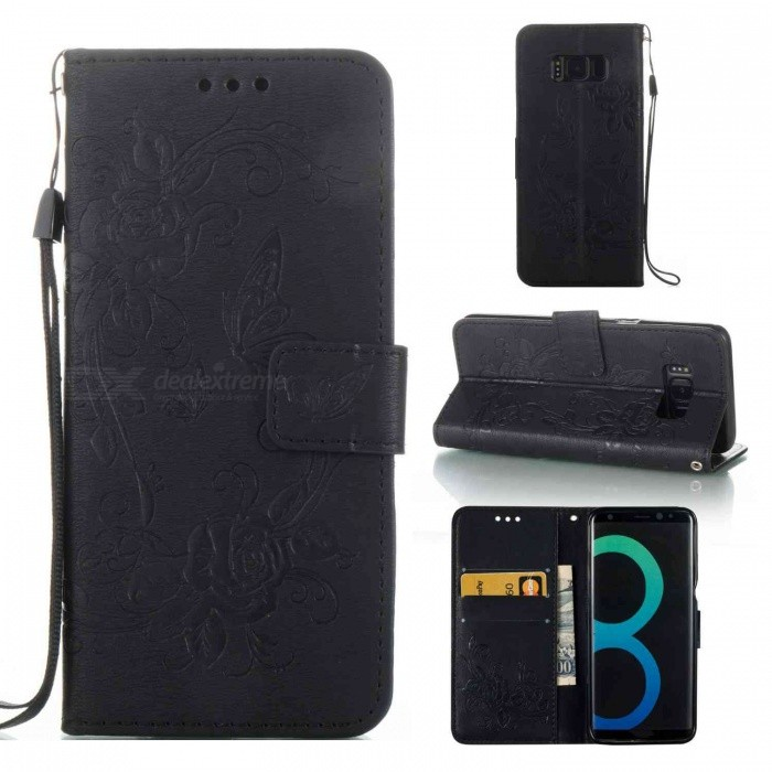 Measy Flip Magnetic Case w/ Kickstand, Cash Wallet Case with Card Holder Function for Samsung Galaxy S8 Plus