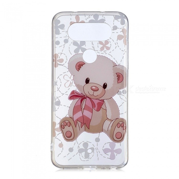 ESAMACT Cute Bear Pattern Protective TPU Back Case for LG Q8