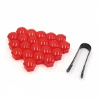 CARKING-20Pcs-17mm-Red-Plastic-Wheel-Lug-Nut-Bolt-Cover-Caps-with-Removal-Tool-for-Car
