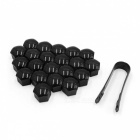 CARKING-20Pcs-17mm-Black-Plastic-Wheel-Lug-Nut-Bolt-Cover-Caps-with-Removal-Tool-for-Car