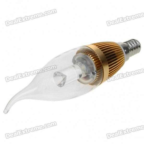 E14 3W 220-250LM Candle Style Warm White 3-LED Bulb (220V)
