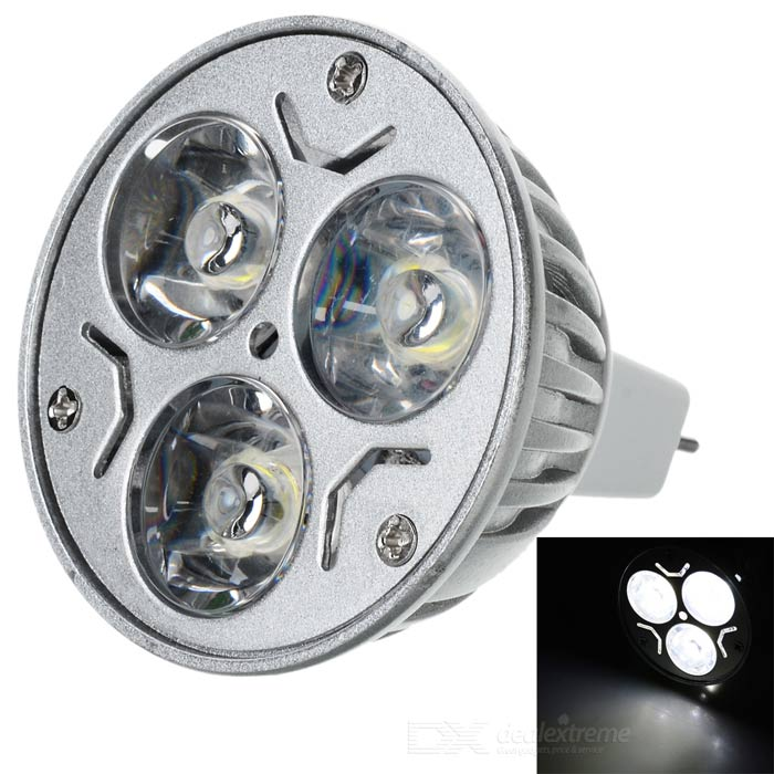 MR16 3W 174lm Cold White Light High Power 3-LED Cup Bulb (12V)
