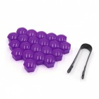 CARKING-20Pcs-19mm-Purple-Plastic-Wheel-Lug-Nut-Bolt-Cover-Cap-with-Removal-Tool-for-Car