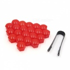 CARKING-20Pcs-19mm-Red-Plastic-Wheel-Lug-Nut-Bolt-Cover-Caps-with-Removal-Tool-for-Car