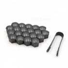 CARKING-20Pcs-19mm-Gray-Plastic-Wheel-Lug-Nut-Bolt-Cover-Caps-with-Removal-Tool-for-Car