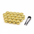 CARKING-20Pcs-21mm-Gold-Tone-Plastic-Car-Wheel-Lug-Nut-Bolt-Cover-Caps-with-Removal-Tool