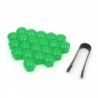 CARKING-20Pcs-21mm-Green-Plastic-Wheel-Lug-Nut-Bolt-Cover-Caps-with-Removal-Tool-for-Car