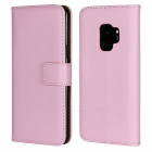 Protective Full Body Split Leather Case for Samsung GALAXY S9 - Pink