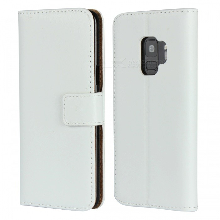 Protective Full Body Split Leather Case for Samsung Galaxy S9 Plus - White, Black, Pink, Brown