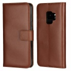 Protective Full Body Split Leather Case for Samsung Galaxy S9 Plus - Brown