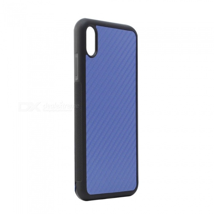 JEDX Drawing Carbon Fiber Protective TPU + PC Back Case for IPHONE 9 PLUS - Blue