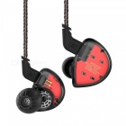KZ ES4 In-Ear Monitor Armature And Dynamic Hybrid Headset, HiFi Bass Noise Cancelling Ear-Hook Headphone w/ Replaced Cable