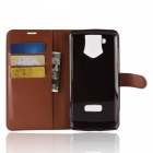 Naxtop Phone Wallet Flip Leather Holder Cover Case for Oukitel K10 - Brown