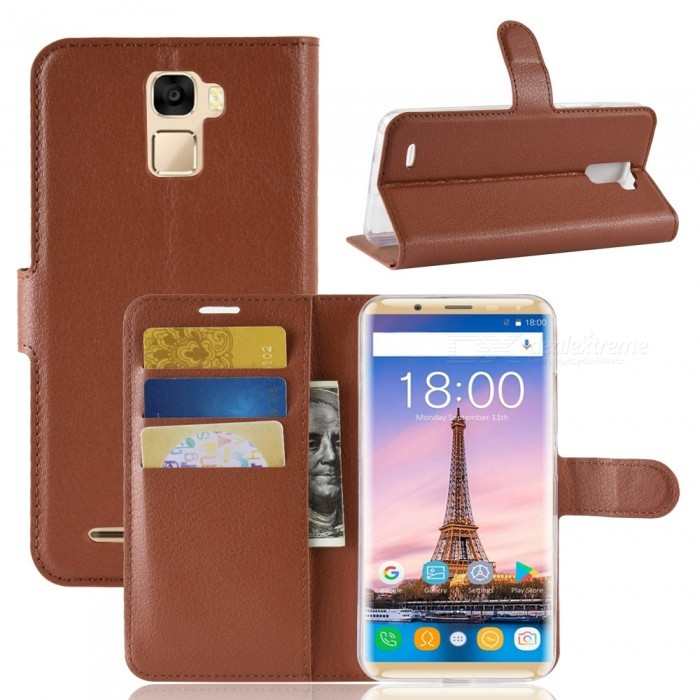Naxtop Phone Wallet Flip Leather Holder Cover Case for Oukitel K5000 - Brown, Black, Red