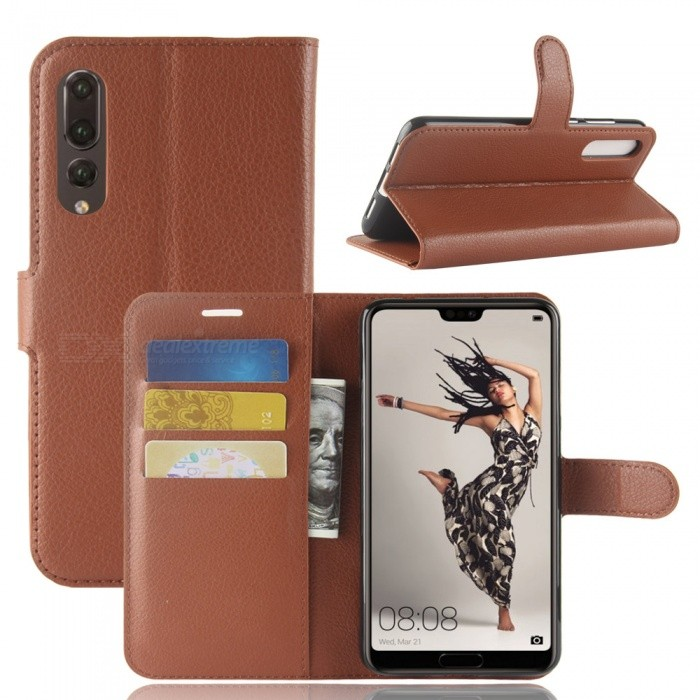 Naxtop Phone Wallet Flip Leather Holder Cover Case for Huawei P20 Pro