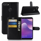 Naxtop Phone Wallet Flip Leather Holder Cover Case for Huawei Y9 (2018) - Black
