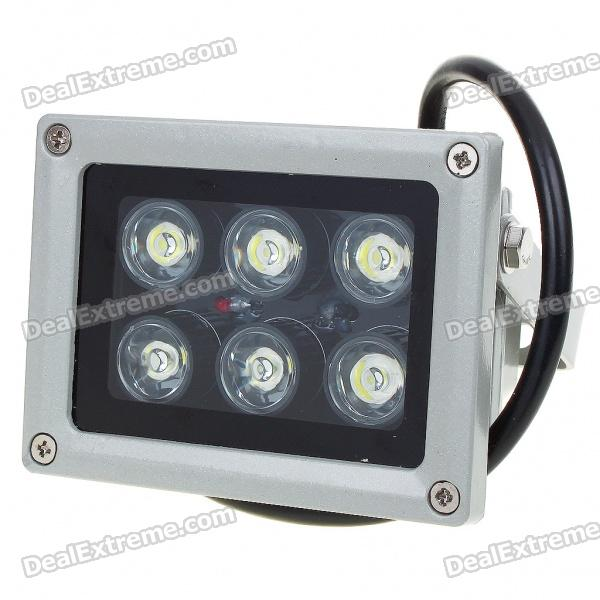 6W 6-LED 400-500lm Cold White Flood Light / Projection Lamp (220V)