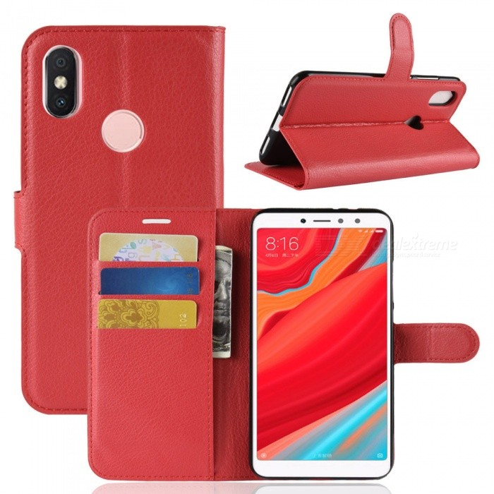 Naxtop Phone Wallet Flip Leather Holder Cover Case for Xiaomi Redmi S2 (Redmi Y2)