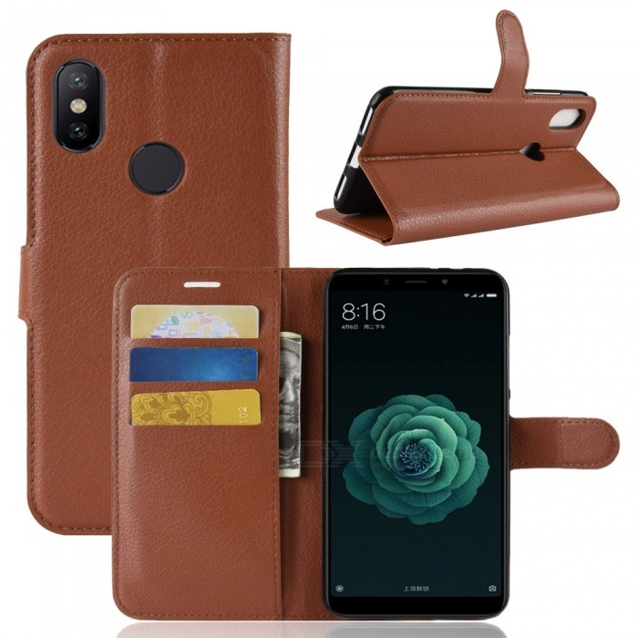 Naxtop Phone Wallet Flip Leather Holder Cover Case for Xiaomi Mi A2 (Mi 6X)