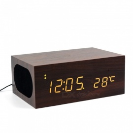 LED-Wooden-Digital-Alarm-Clock-with-Bluetooth-Music-Speaker-Luxury-Touch-Control-Time-Temperature-Display