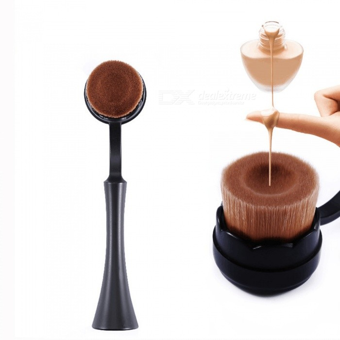 Big Standing Groove Makeup Brushes, Base Liquid Foundation Cream Powder Blush Beauty Make Up Brush