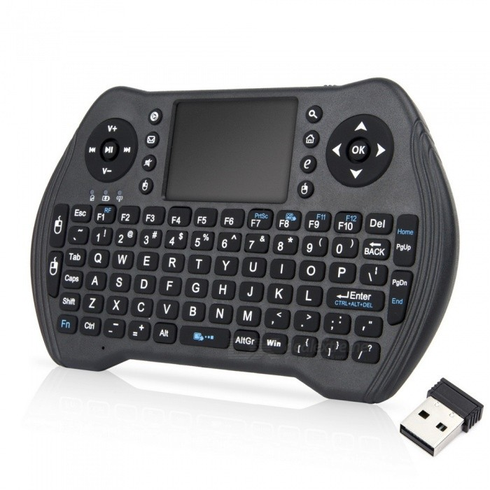 2.4GHz Mini USB Wireless Keyboard Touchpad Fly Air Mouse