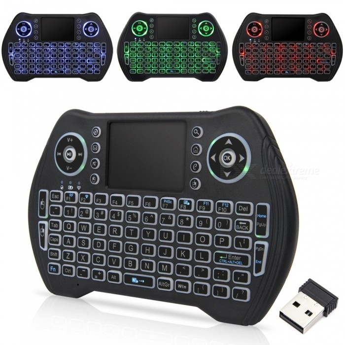 17927931a23 MT10 2.4G Mini Wireless Keyboard w/ Tri-color Backlit, Built-in ...