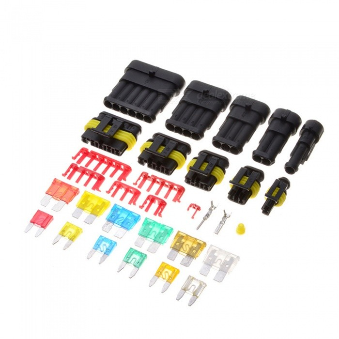 ESAMACT-240Pcs-Waterproof-Car-HID-Pin-Jumper-Terminals-Electrical-Wire-Connector-w-Mini-Vehicle-Blade-Fuse-for-Ship-Motorcycle
