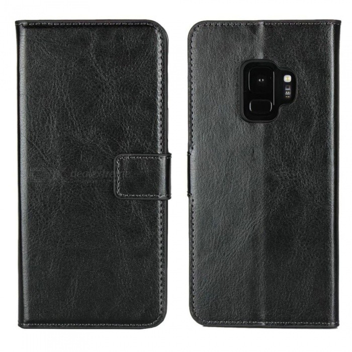 XSUNI PU Leather Silicon Magnetic Dirt Resistant Phone Bag Case for SAMSUNG S9 Plus