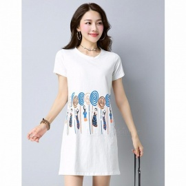 5c7897d34184 2018 New Summer Tops Fashion A-Line Style Women Long T-Shirts Robe Female