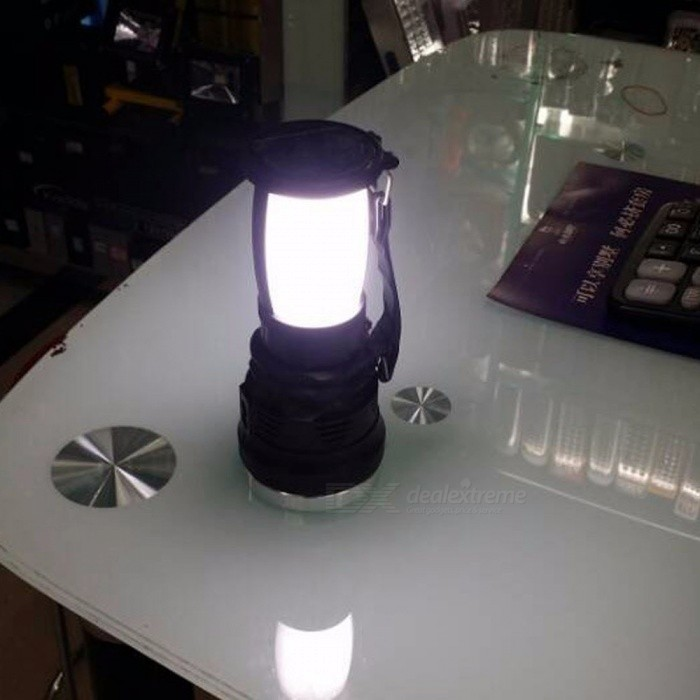 LED Solar Light Rechargeable Hand Lamp Camping Lamp Lantern AC110-220V Tent Lights For Outdoor Lighting Hiking 3W/Black