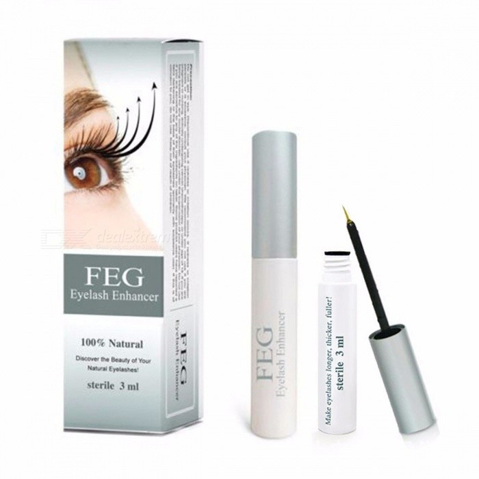 FEG Eyelash Growth Treatments 3ml Chinese Herbal Powerful Eyelash Liquid Serum Enhancer Eye Lash Longer Thicker Makeup